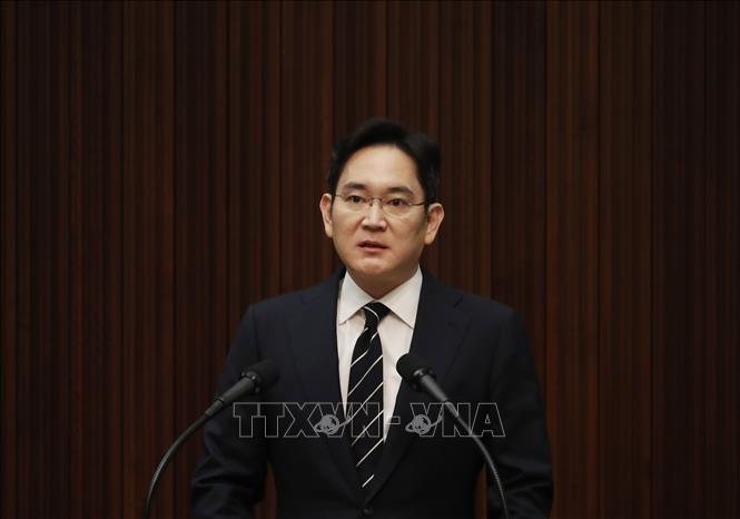 Phó Chủ tịch Tập đoàn Samsung, ông Lee Jae-yong phát biểu tại cuộc họp báo ở Seoul, Hàn Quốc ngày 6/5/2020.