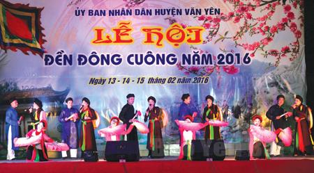 Khai mạc Lễ hội đền Đông Cuông năm 2016.