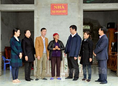 Ngôi nhà Đại đoàn kết vừa được hoàn thành cuối năm 2016 của gia đình bà Trương Thị Bằng, thôn Đồng Nếp, xã Đại Minh.