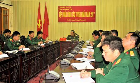 Quang cảnh Hội nghị tập huấn tại điểm cầu Yên Bái.