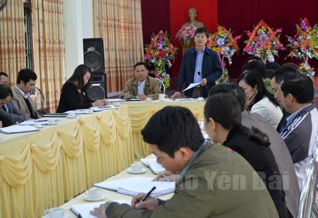 Thường trực Thành ủy Yên Bái kiểm tra việc triển khai thực hiện Chỉ thị 05 và nhiệm vụ phát triển kinh tế - xã hội tại Đảng bộ phường Đồng Tâm.