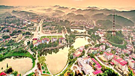 Trung tâm thành phố Yên Bái. Ảnh: Hoàng Đô