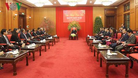 Tổng Bí thư Nguyễn Phú Trọng tiếp Trưởng các cơ quan đại diện ngoại giao 9 nước ASEAN.