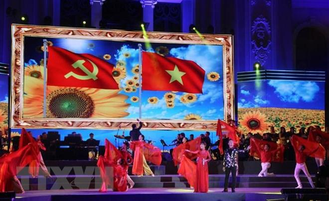 Tiết mục biểu diễn nghệ thuật kỷ niệm 89 năm Ngày thành lập Đảng Cộng sản Việt Nam.