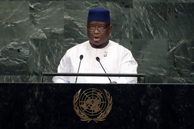 Tổng thống Sierra Leone Julius Maada Bio.