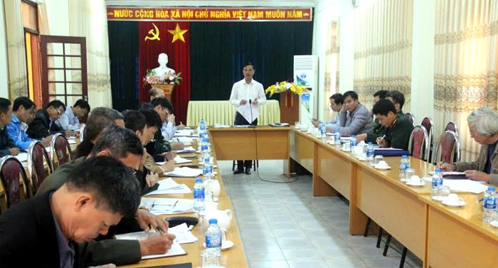 Đồng chí Dương Văn Tiến - Phó Chủ tịch UBND tỉnh phát biểu tại buổi làm việc.