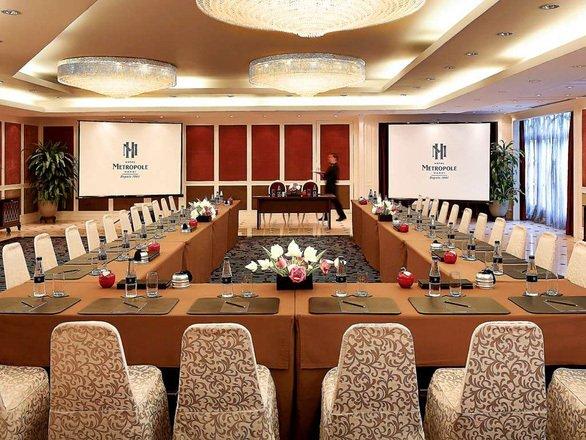 Phòng hội nghị bên trong khách sạn được dự đoán là nơi diễn ra Hội nghị thượng đỉnh.