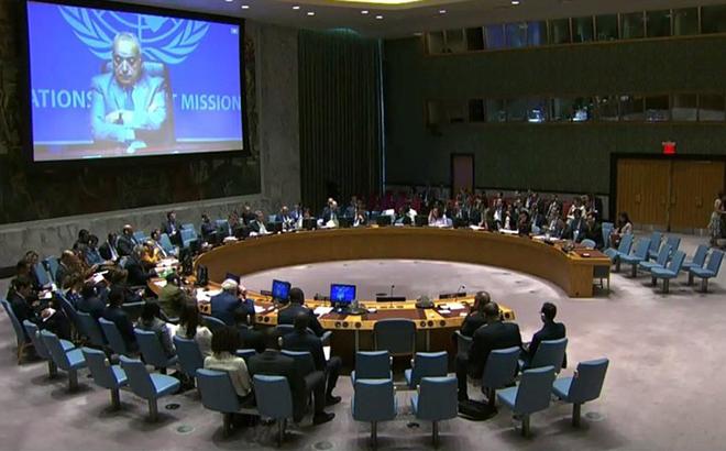 Một phiên họp của Hội đồng Bảo an Liên Hợp Quốc về Syria.