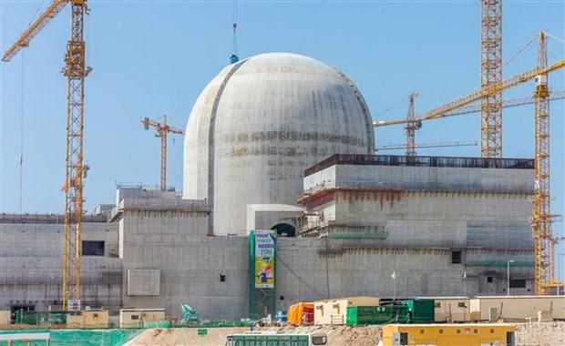 Nhà máy điện hạt nhân Barakah ở gần al-Hamra, phía tây Abu Dhabi, UAE.
