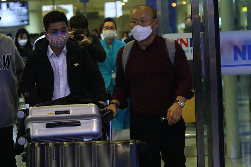 HLV Park Hang Seo trở về Việt Nam từ Hàn Quốc.