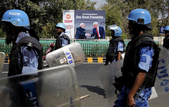 Ấn Độ tăng cường an ninh trước thềm chuyến thăm của Tổng thống Mỹ D.Trump.