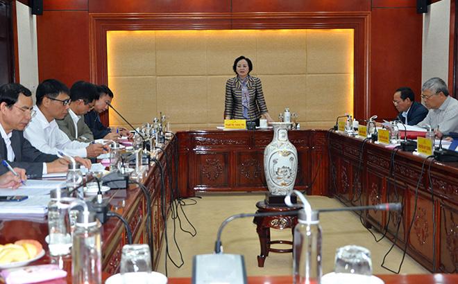Đồng chí Bí thư Tỉnh ủy Phạm Thị Thanh Trà phát biểu chỉ đạo Hội nghị.