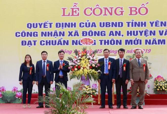 Xã Đông An, huyện Văn Yên được UBND tỉnh công nhận đạt chuẩn nông thôn mới.