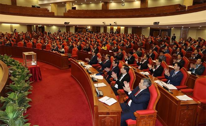 Quang cảnh Hội nghị lần thứ Nhất Ban Chấp hành Trung ương Đảng khóa XIII.