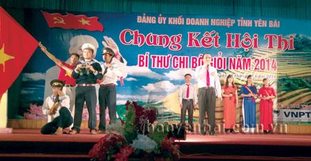 Đồng chí Nguyễn Thanh Hải Bí thư Chi bộ phân xưởng vận hành tham gia cuộc thi Bí thư chi bộ giỏi năm 2014.