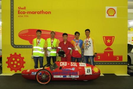 Mẫu xe của đội CKD - FA (Đại học Sư phạm Kỹ thuật TPHCM) giành giải Ba cuộc thi 2016.