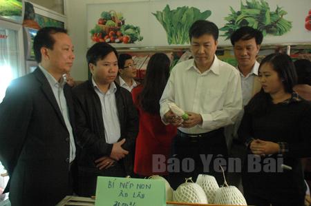 Đoàn đại biểu Quốc hội khóa XIV tỉnh Yên Bái giám sát việc bảo quản, kinh doanh sản phẩm nông nghiệp sạch tại thành phố Yên Bái.