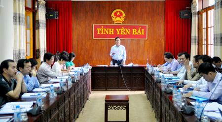 Đồng chí Dương Văn Tiến – Phó Chủ tịch UBND tỉnh phát biểu kết luận Hội nghị