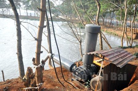 Công ty cổ phần Lâm nông sản thực phẩm Yên Bái đầu tư hàng chục tỷ đồng cho việc xử lý nước thải Nhà máy Sắn Văn Yên trước khi đổ ra sông Hồng. (Ảnh: Hoàng Nhâm)