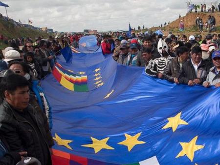 Dải quốc kỳ của Bolivia.