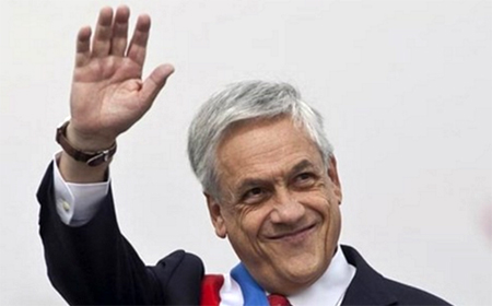 Tổng thống Chile Sebastian Piñera trong lễ nhậm chức.