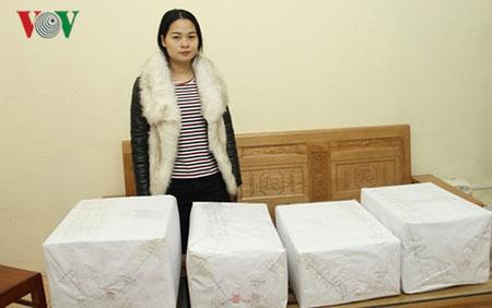 Nguyễn Thị Thu Hoài và tang vật