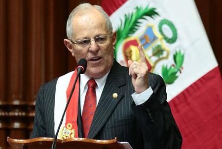 Tổng thống đương nhiệm Pedro Pablo Kuczynski đã đệ trình đơn từ chức lên Quốc hội ngay trước ngày cơ quan lập pháp Peru nhóm họp về việc bỏ phiếu phế truất ông do cáo buộc tham nhũng.