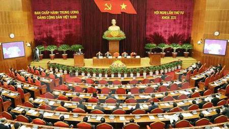 Quang cảnh Hội nghị Trung ương 4 (khoá XII).
