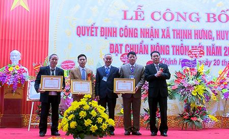 Thôn Miếu Hạ, xã Thịnh Hưng được UBND tỉnh tặng Bằng khen vì đã có thành tích xuất sắc trong phong trào thi đua xây dựng nông thôn mới.