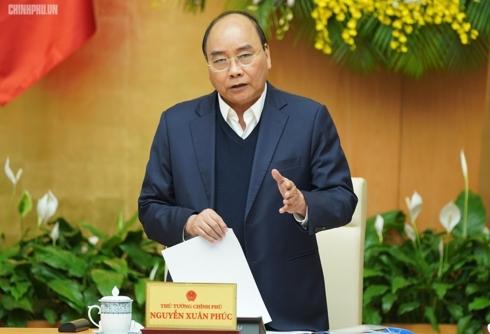 Thủ tướng Nguyễn Xuân Phúc phát biểu khai mạc phiên họp.