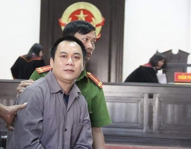 Lái xe container Lê Ngọc Hoàng tại phiên tòa phúc thẩm.