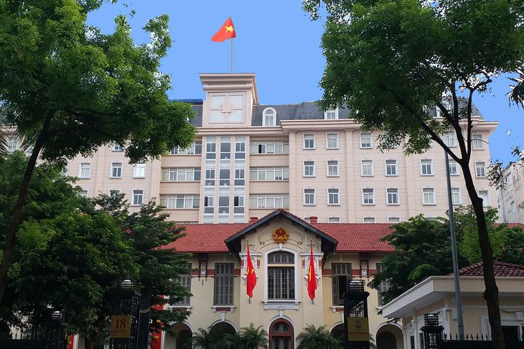 Trụ sở Bộ TT-TT tại số 18 phố Nguyễn Du, Hà Nội. Nguồn: Internet