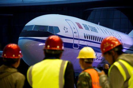 Một chiếc máy bay Boeing 737 Max 8 của hãng hàng không quốc gia Trung Quốc Air China.