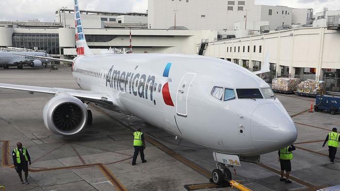 Máy bay Boeing 737 MAX 8 của Hãng American Airlines tại sân bay Miami, bang Florida, Mỹ