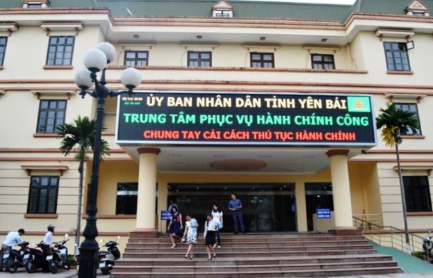 Trung tâm Phục vụ hành chính công tỉnh Yên Bái.