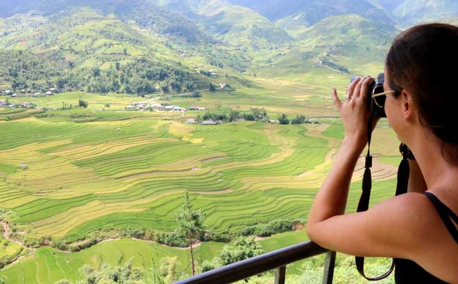 Mu Cang Chai terraced fields are favorite destinations of domestic and foreign visitors.