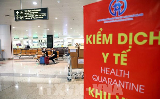 Area for health quarantine at Noi Bai Airport.