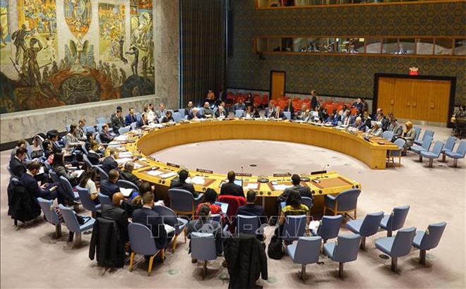 Toàn cảnh một phiên họp của Hội đồng Bảo an LHQ diễn ra ở New York, Mỹ.