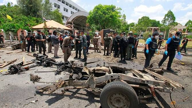 Hiện trường vụ đánh bom ngày 17/3.