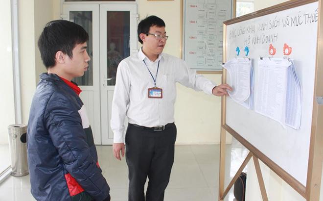 Chi cục Thuế huyện Lục Yên công khai danh sách và mức thuế hộ kinh doanh.
