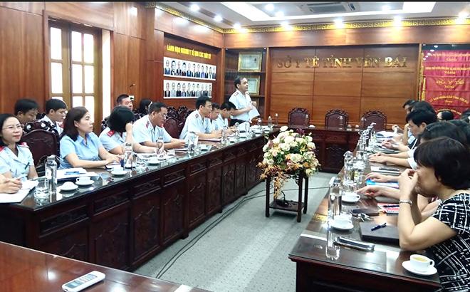 Thanh tra tỉnh Yên Bái thực hiện thanh tra chuyên đề diện rộng tại Sở Y tế.
