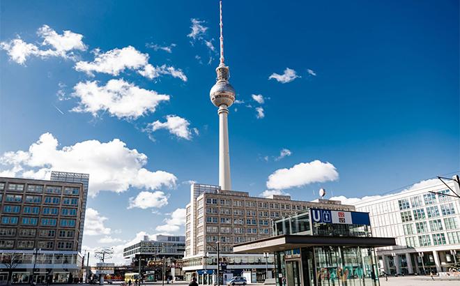Cảnh vắng vẻ tại Berlin, Đức ngày 22/3/2020, trong bối cảnh dịch COVID-19 lan rộng.