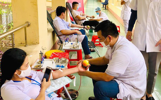 More than 20 units of blood were collected during the first day of the blood donation campaign.