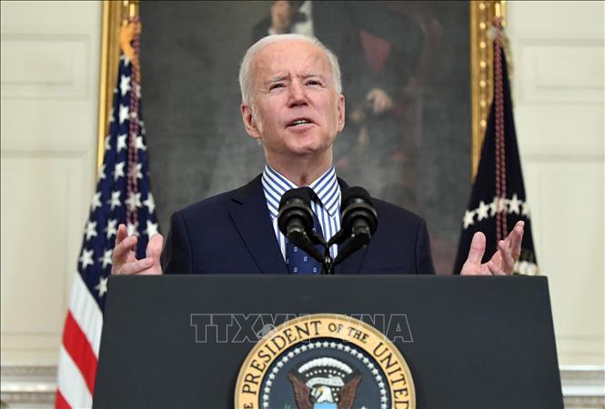 Tổng thống Joe Biden phát biểu tại Washington, DC, Mỹ, ngày 6/3/2021.