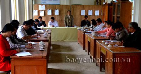 Tổ công tác số 2 luôn sâu sát chỉ đạo, hướng dẫn Ban chấp hành Đảng bộ xã Thượng Bằng La các công việc chuẩn bị Đại hội điểm.