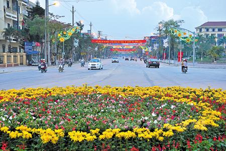 Một góc trung tâm thành phố Yên Bái hôm nay. (Ảnh: Hoàng Đô)