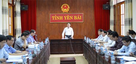 Đồng chí Đỗ Đức Duy - Phó bí thư Tỉnh ủy, Chủ tịch UBND tỉnh phát biểu kết luận Hội nghị.