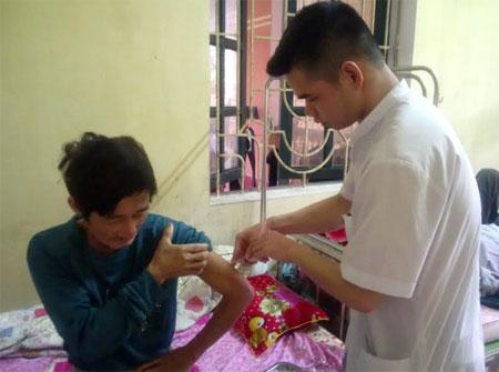 Bệnh nhân tâm thần rượu được điều trị tại Bệnh viện Tâm thần Yên Bái.