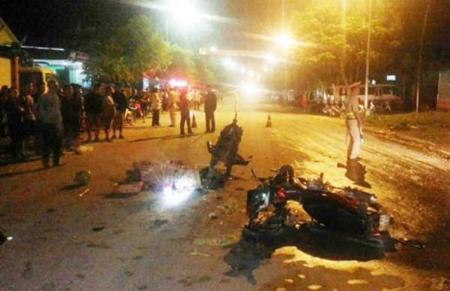 Hiện trường vụ tai nạn nghiêm trọng khiến 2 người chết, 3 người bị thương.