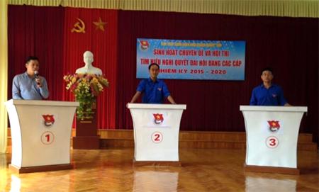 Ban Chấp hành Đoàn Khối Doanh nghiệp tỉnh Yên Bái đã tổ chức thành công Hội thi tìm hiểu nghị quyết đại hội Đảng các cấp nhiệm kỳ 2015 - 2020.